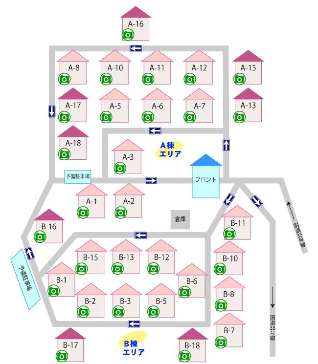 ホテル蘭お部屋マップ