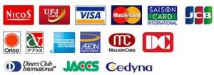 クレジットカードでお支払いただけます。